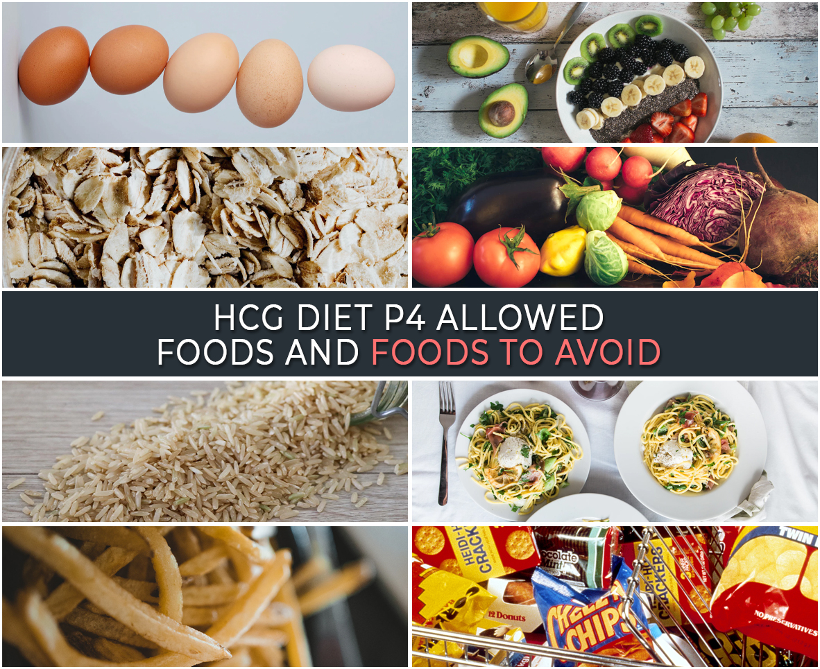 HCG DIET P4: ALLOWED FOODS AND FOODS TO AVOID